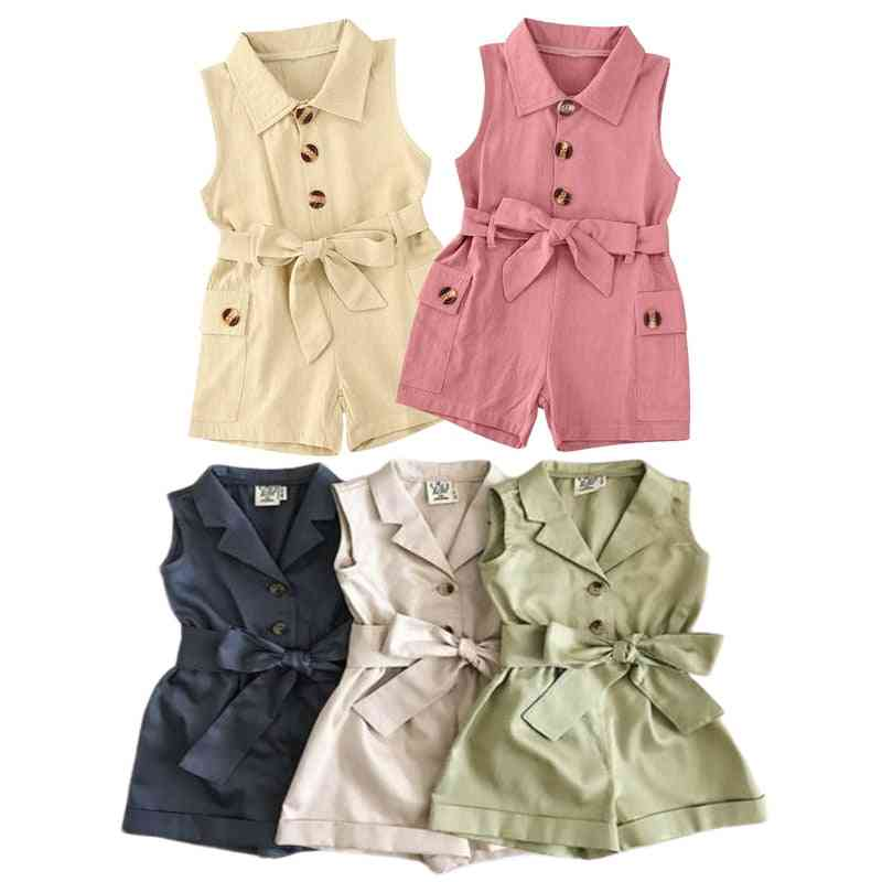 Baby Clothes Turn-down Collar Romper, Jumpsuit