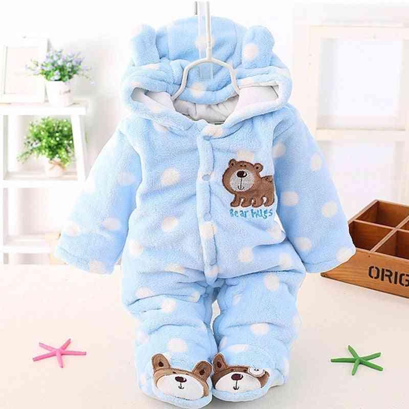 Baby Plus Velvet Thicker Coat - Snow Wear Jumpsuits