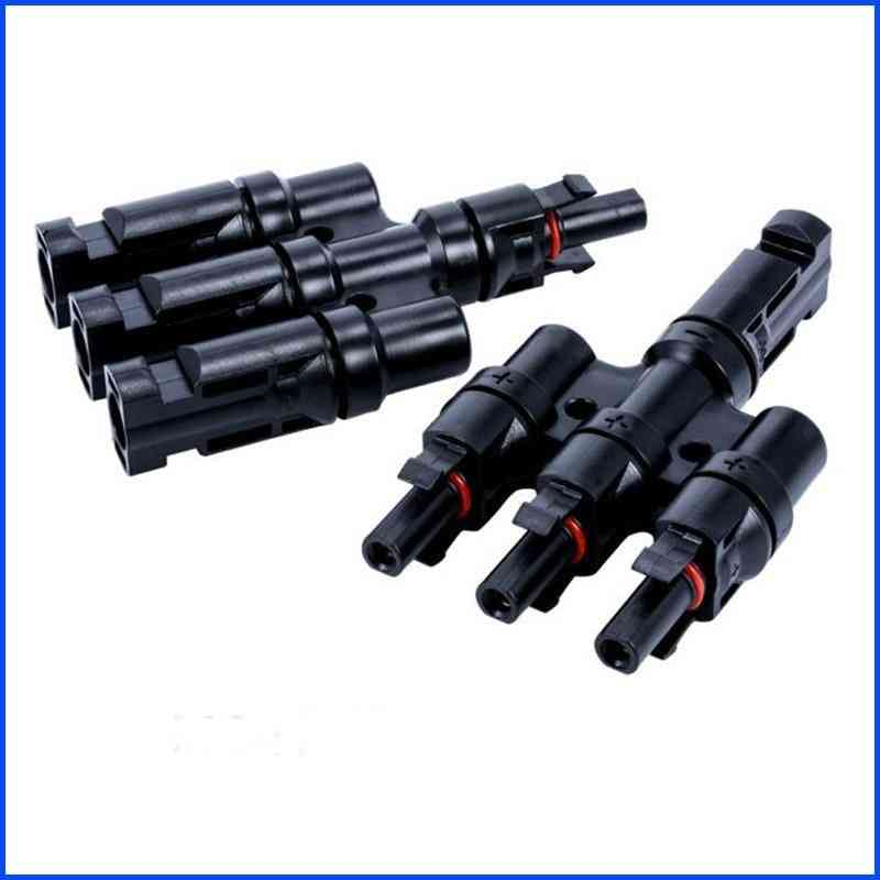 2t-6t Branch Parallel Connection, 30a/50a 1000v Electrical Solar Connector Photovoltaic Panel Cable Wire