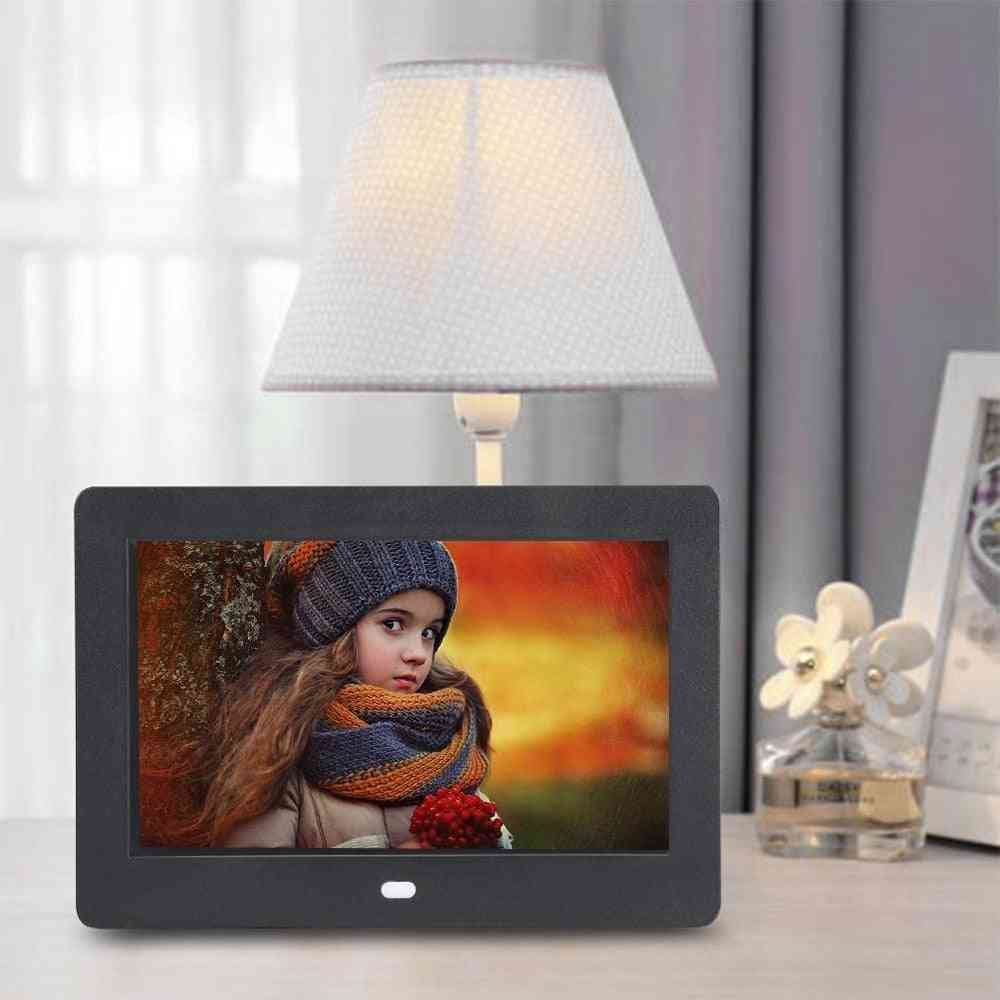 7 Inch Digital Photo Frame With Led Backlight (800x480 Display Resolution)