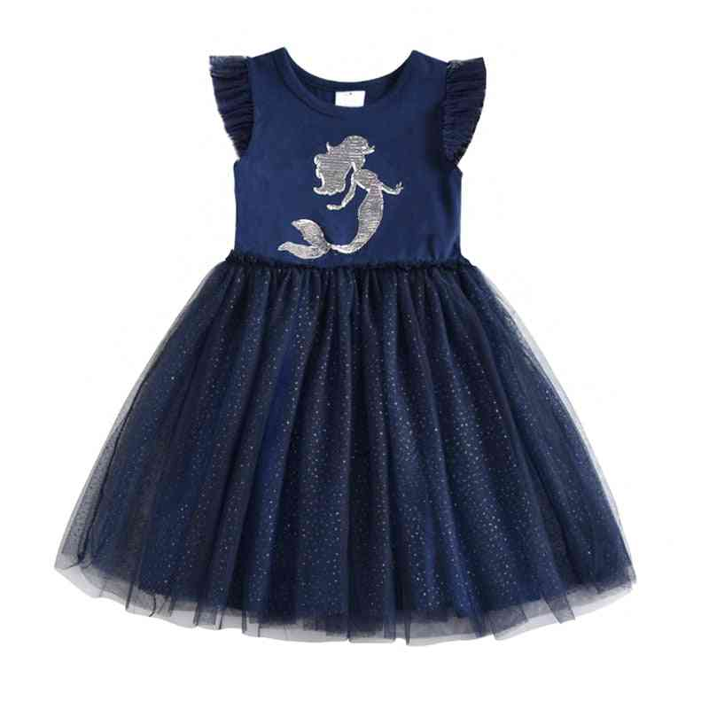 Unicorn Tutu Sequined Dress For Gril