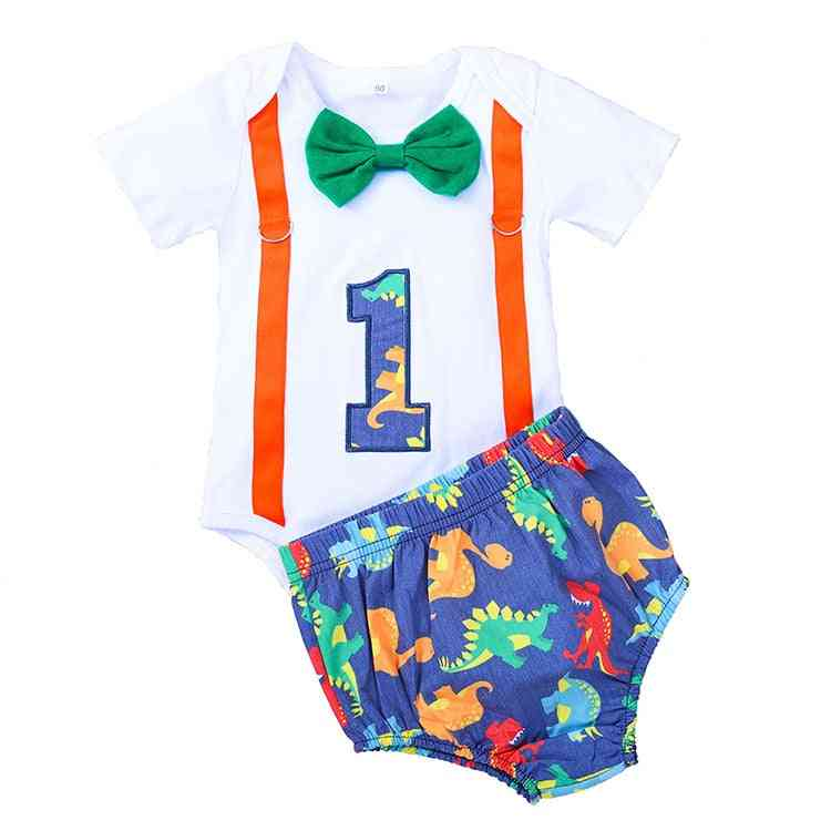 Baby Boy Clothes, Tie Romper, Straps Shorts Outfits