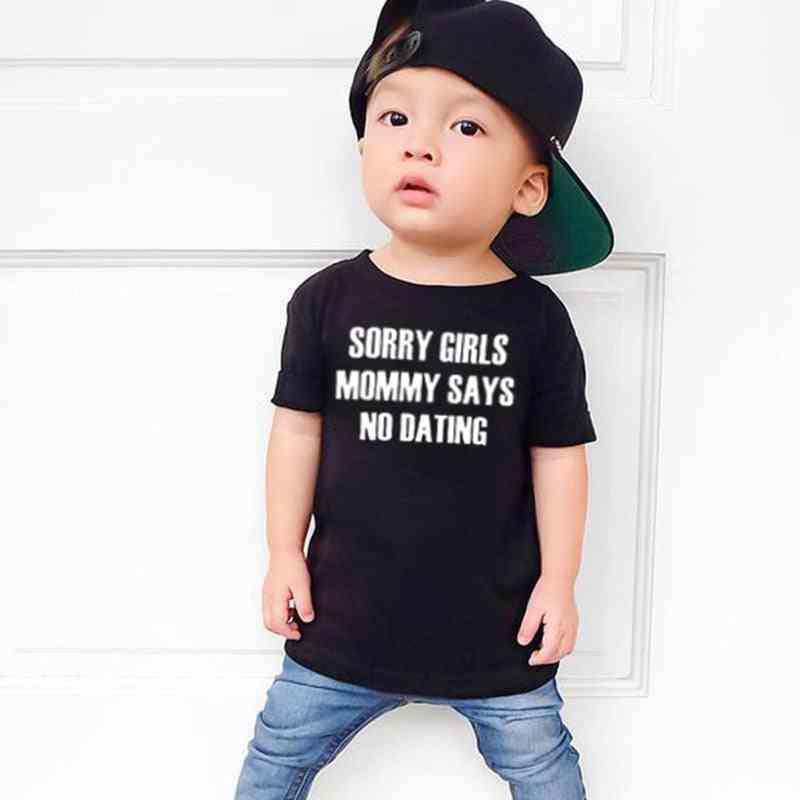 Kids Boy, T Shirt Letter Printed, Short Sleeve Casual Tees Top