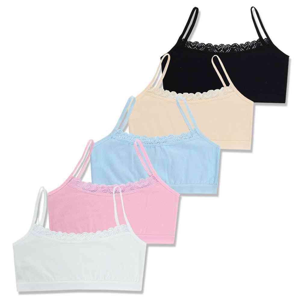 Children's Breast Care Girl Bra, For 6 To 12 Years Cotton Teenage Underwear