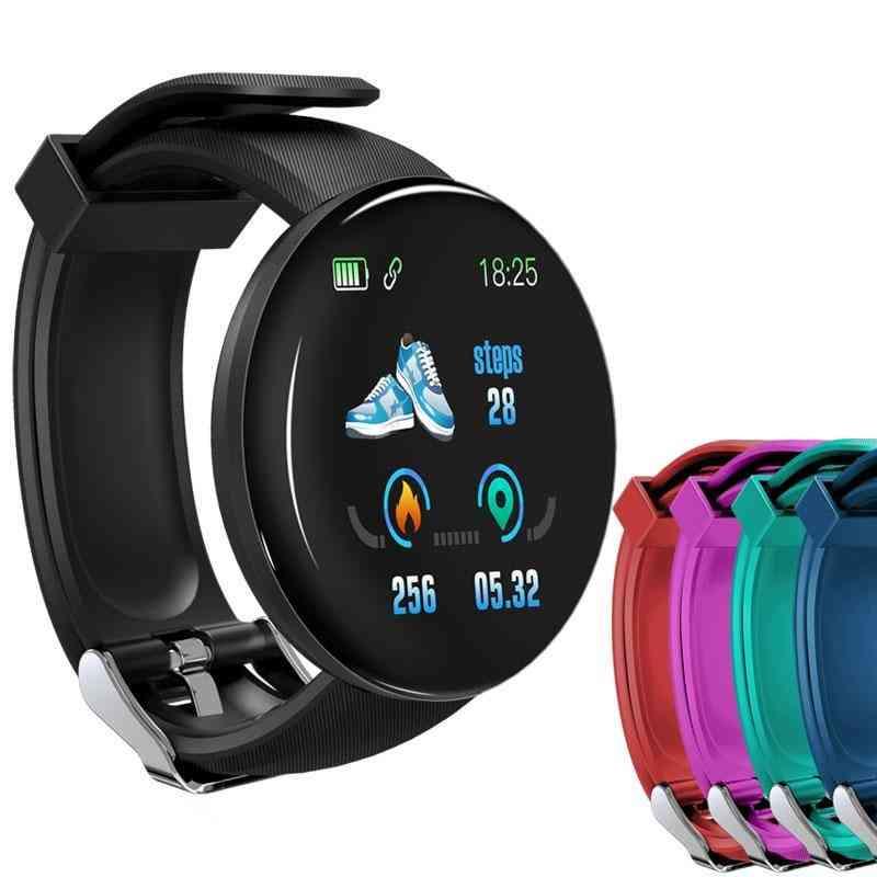 Bluetooth Blood Pressure Round Smartwatch, Waterproof Sport Tracker