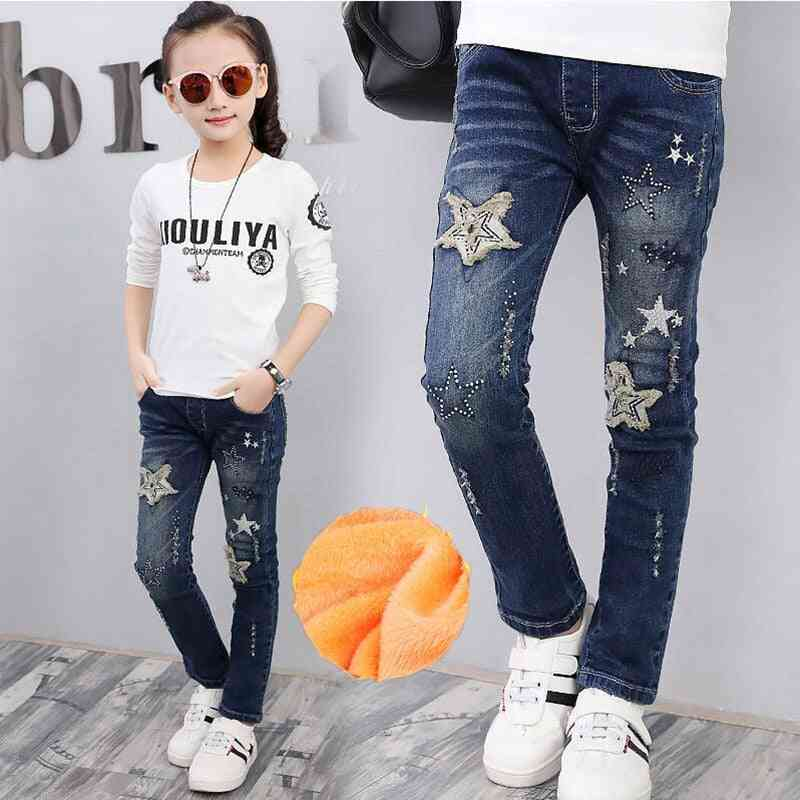 Winter Ripped, Printed Casual Jeans