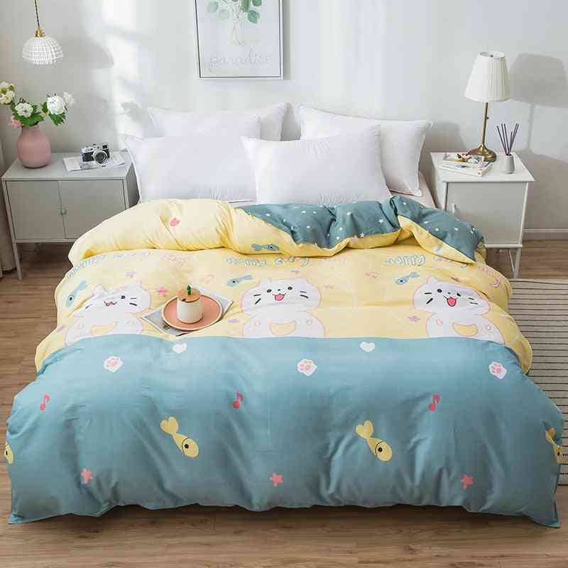 dual-sided Duvet Cover, soft Comfortable Cotton Printing Comforter -textiles Set 3