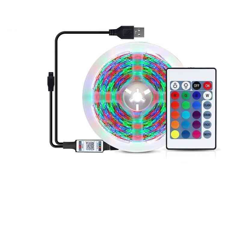 Rgb Led Book Lights, Bedside Table Lamp, With Usb Port