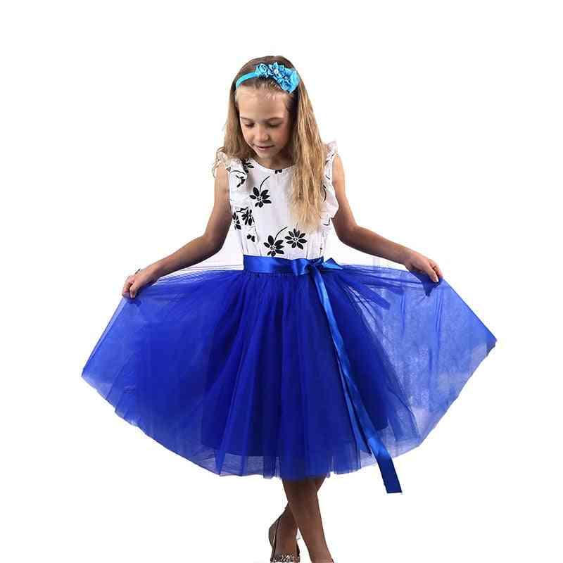Princess Tutu Long Skirts, Elastic Waistband Ball Gown Clothes