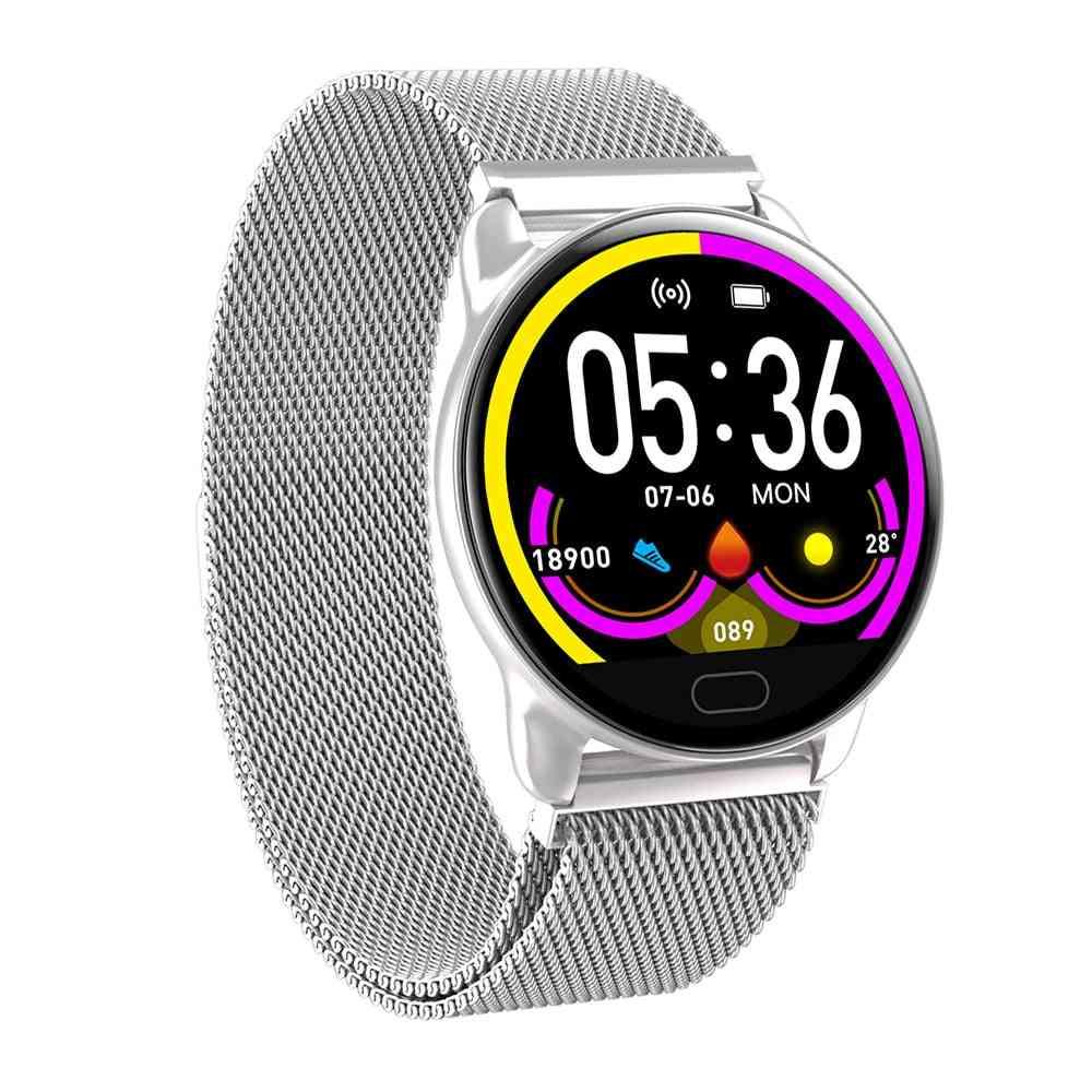Female Fitness Smart Watch, Running Heart Rate Monitor -bluetooth Pedometer