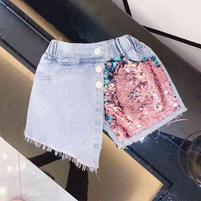 Summer Girls Jeans, Baby Kids Denim Shorts