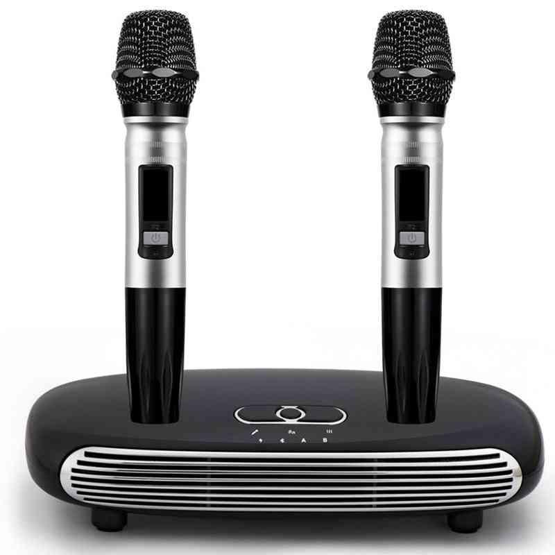 Handheld Wireless Microphone - Home  Digital Karaoke Echo, Audio Sound-mixer