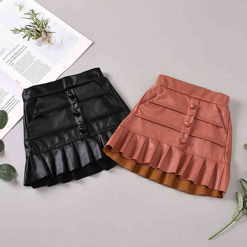 Girl Leather Good Quality Skirts-children 6m-5y Clothes