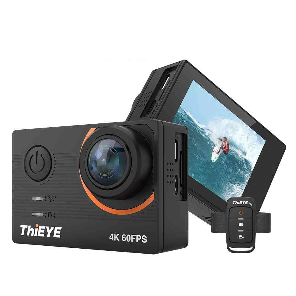 4k 60fps T5 Pro Real Ultra Hd Touch Screen Wifi Action Camera With Remote Control