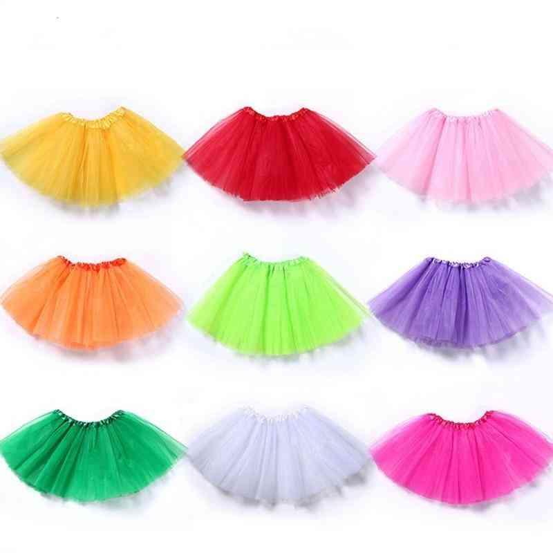 Kid Girl, Summer Colorful, 3-layer Net Yarn Mini Skirt