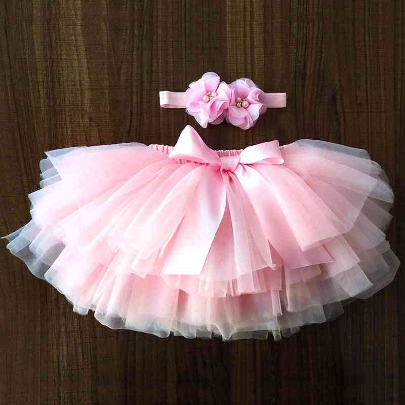 Baby Girl Tutu Skirt, Tulle Lace Bloomers, Diaper Cover Set