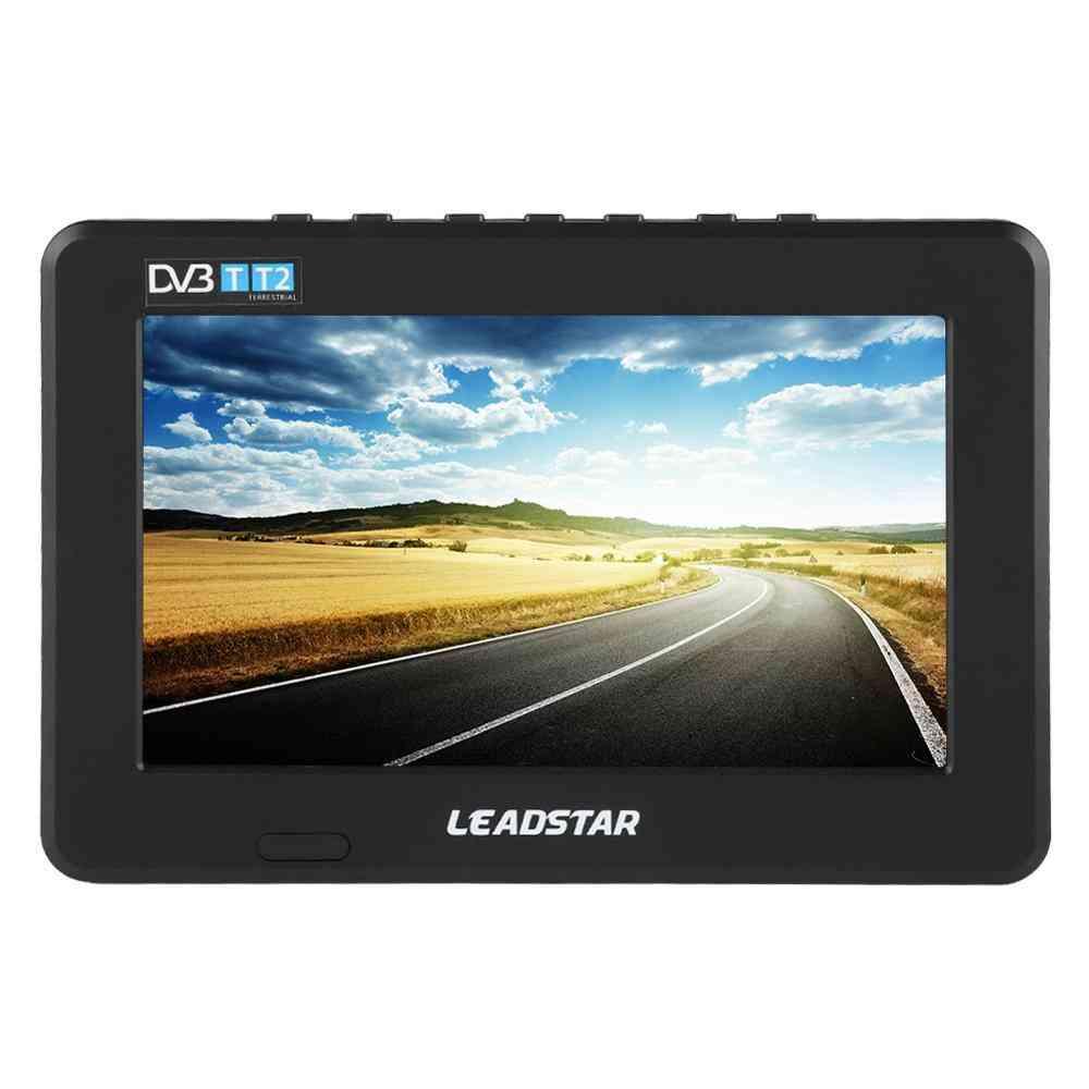 Portable Tv, Car Digital Analog Television With Holder