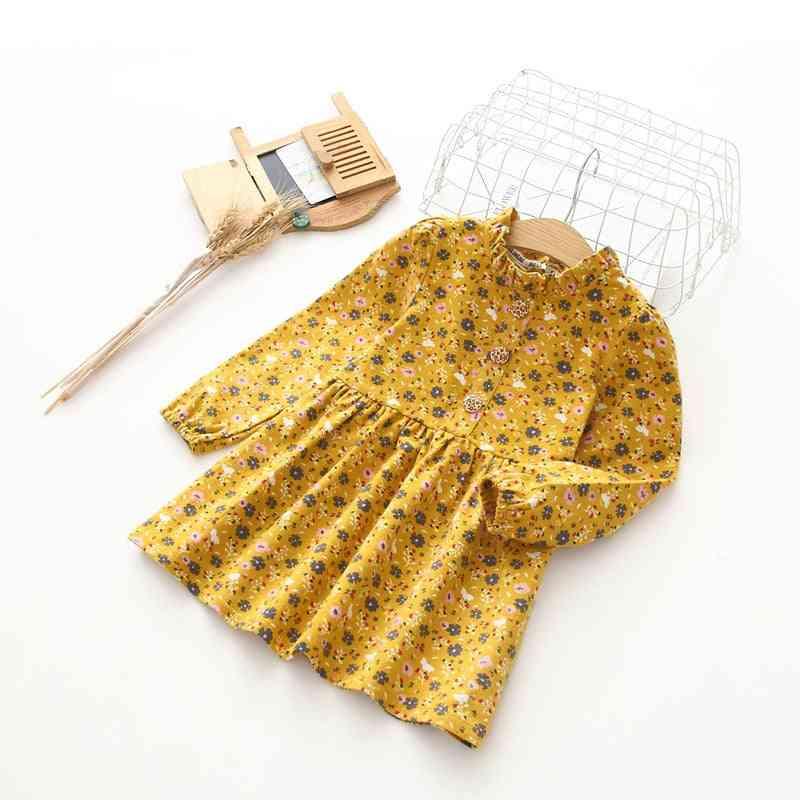 Spring Autumn Princess Dress- Cotton Long Sleeve Girl Dresses