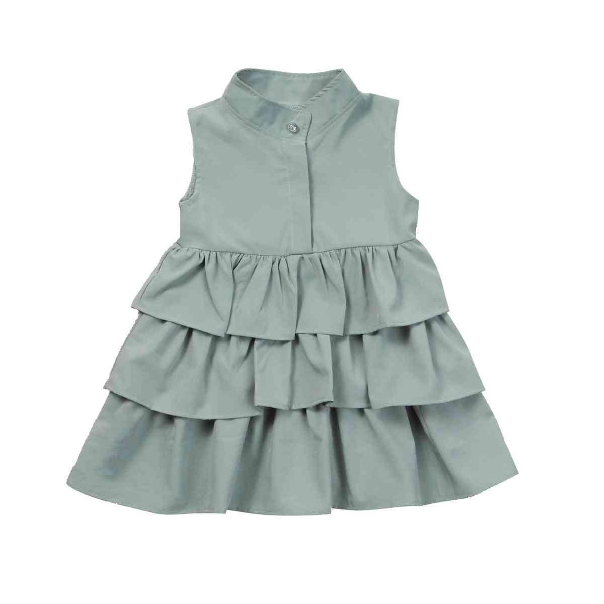Summer Cute Ball Gown, Sleeveless, O Neck Dress For Kid Girl