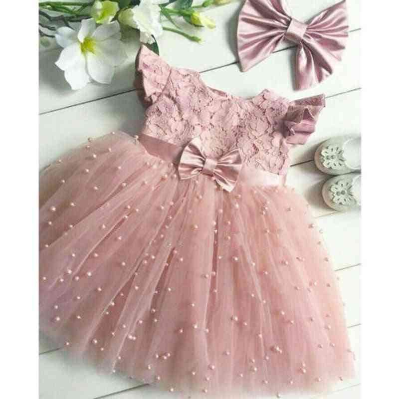 Toddler Kid Girl Princess Dress- Lace Tulle, Pageant Clothing Costume