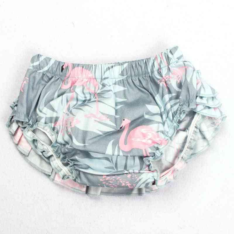 Cotton Bow Flamingo Print Baby Tutu Skirt