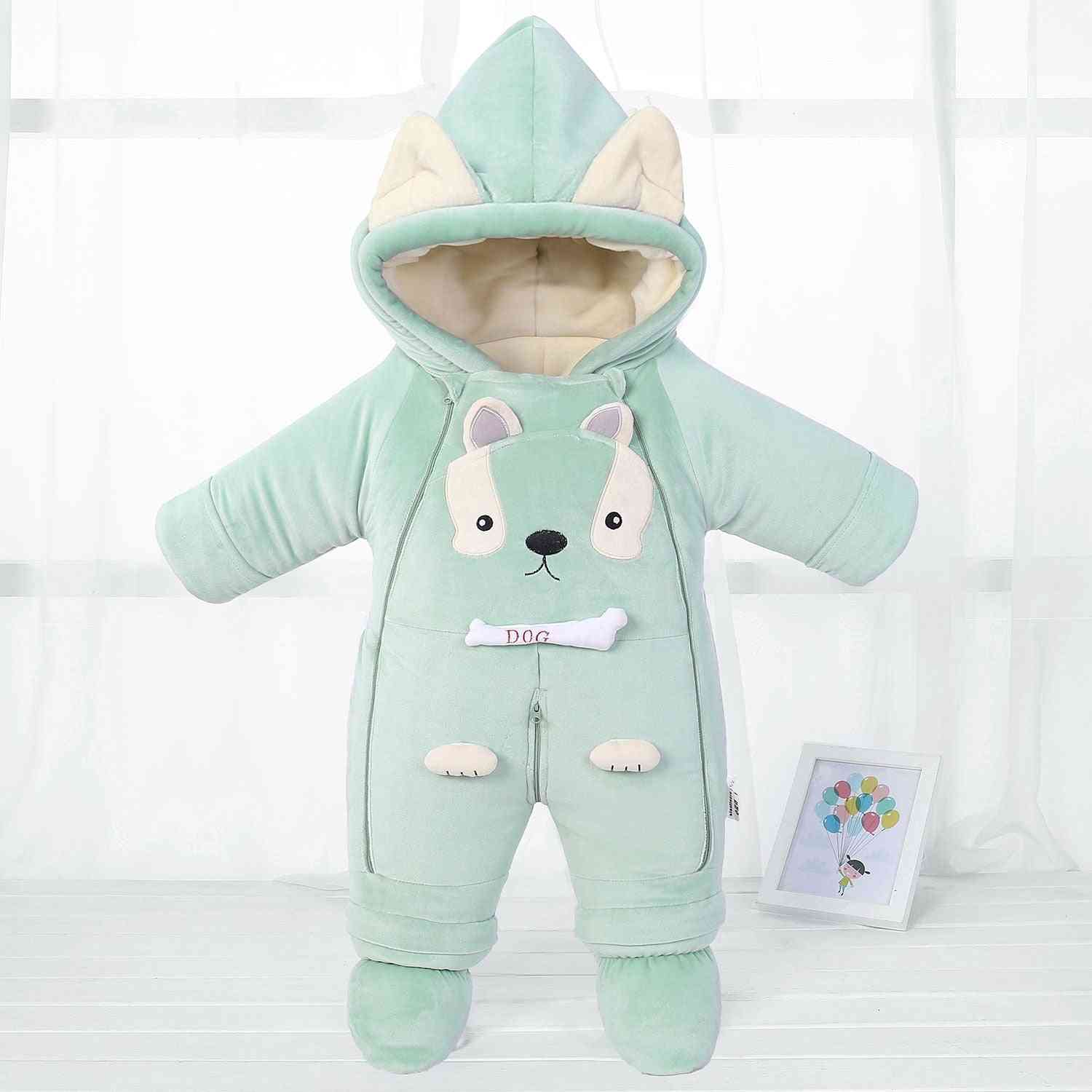 Newborn Style Rompers, Cold Winter Warm Baby Snowsuit, Jumpsuits