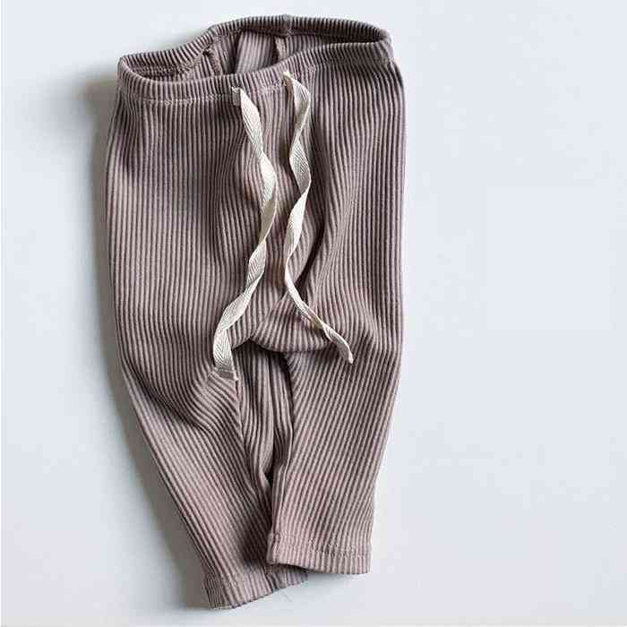 Baby Solid Leggings, Ribbed Pp Pants, Little Boy Casual Harems Trousers