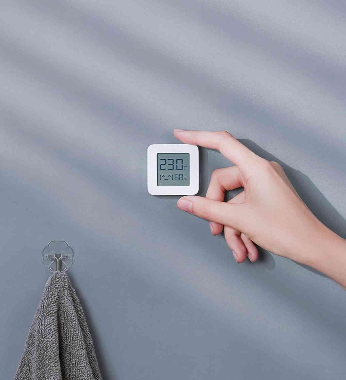 Smart Lcd Screen Digital Thermometer, Bluetooth Temperature Humidity Sensor Moisture Meter (1pcs)