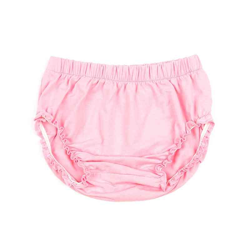 Solid Elastic Cotton, Newborn Baby Bloomers -diaper Covers, Soft Bubble Shorts