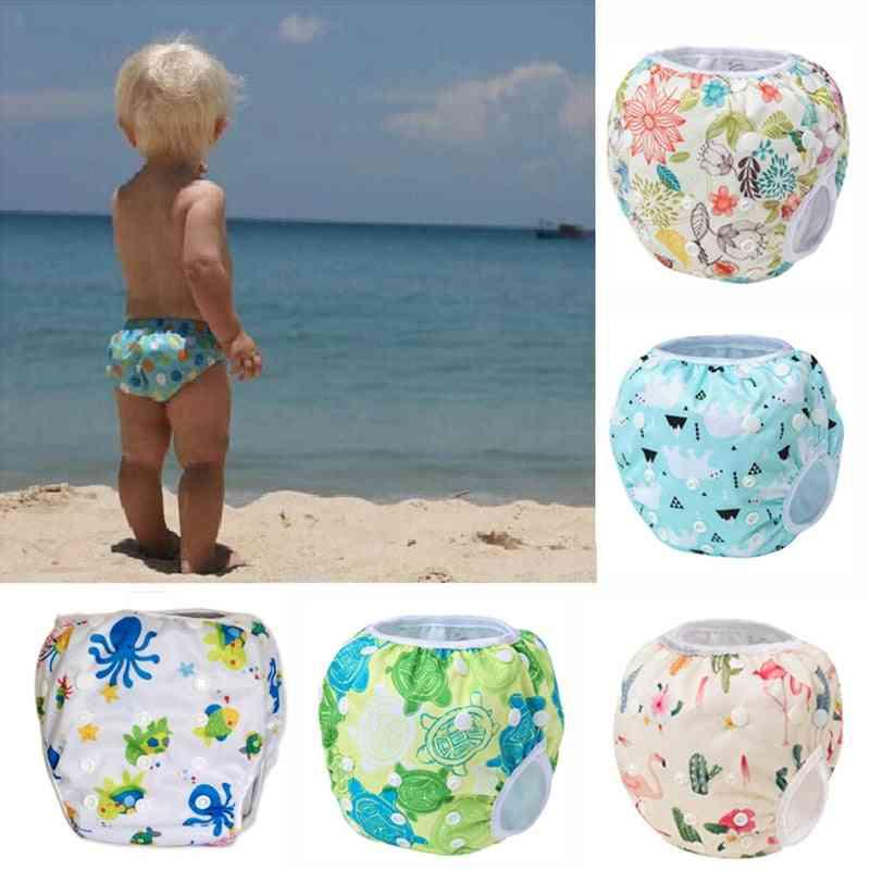 Swim Diaper, Leakproof Reusable Adjustable For Infant