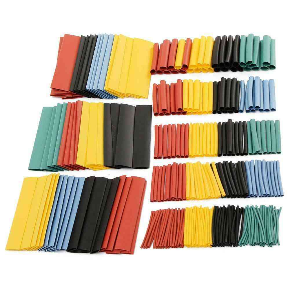 Cable Heat Shrink Tubing Sleeve Wire Wrap Tube- 2:1 Assortment Kit Set