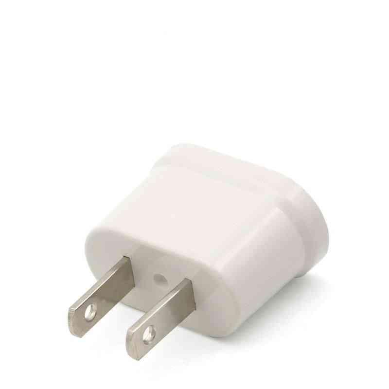 1pc Adapter Plug, Eu To Us