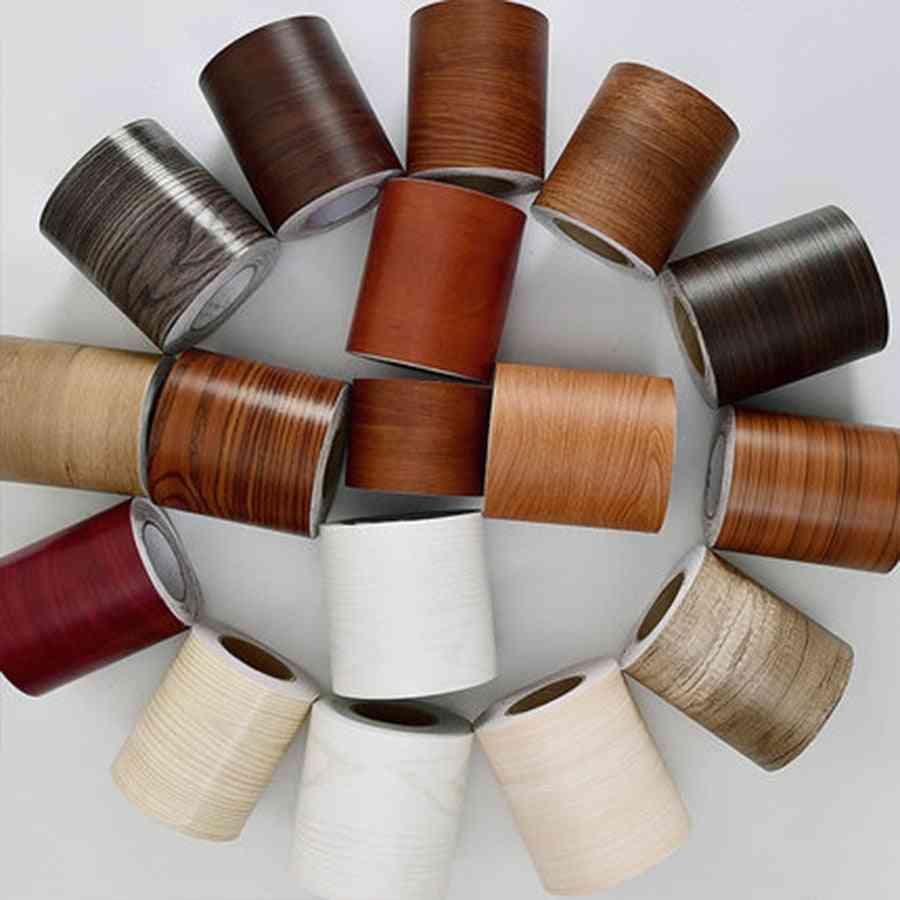 Wood Self Adhesive, Window Decal- Living Room Floor Border Skirting -contact Paper