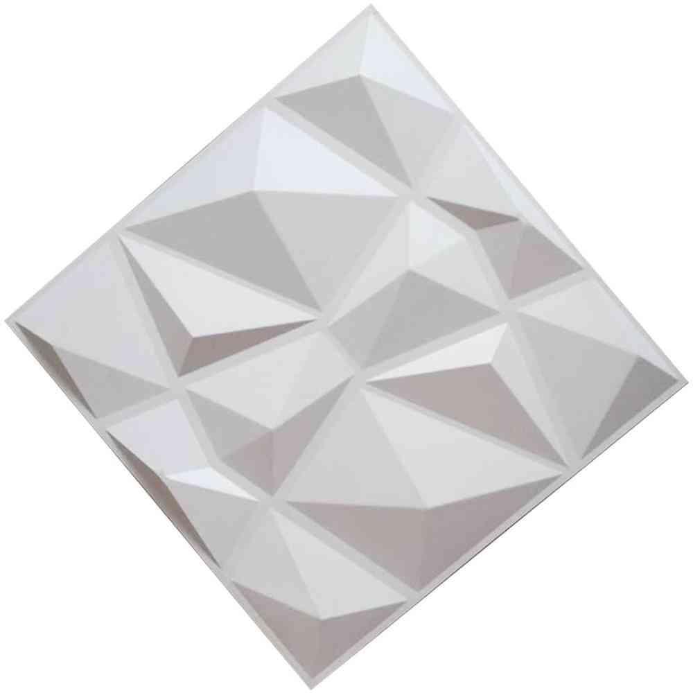 3d Wall Panels, Diamond Design Waterproof Moisture Tiles, Pvc