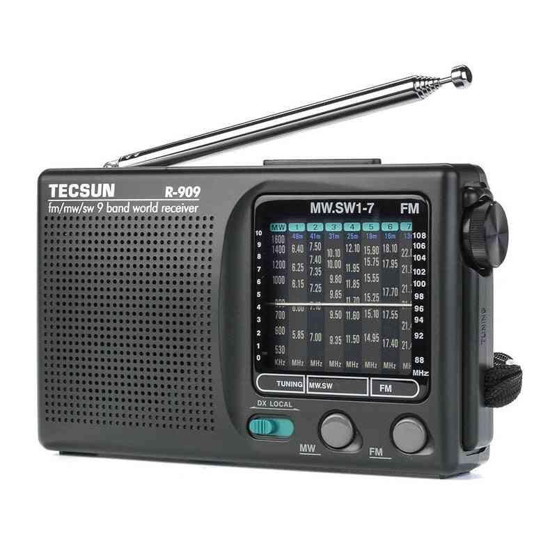 Portable R-909 Radio- Fm/mw/sw 9 Band Word Receiver