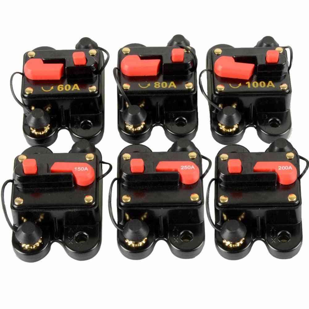 Dc Home Solar System Waterproof Circuit Breaker Reset Fuse Inverter