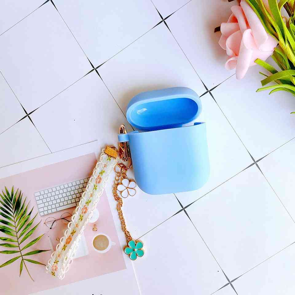 Cute Flower Design Key Ring And Airpods Case