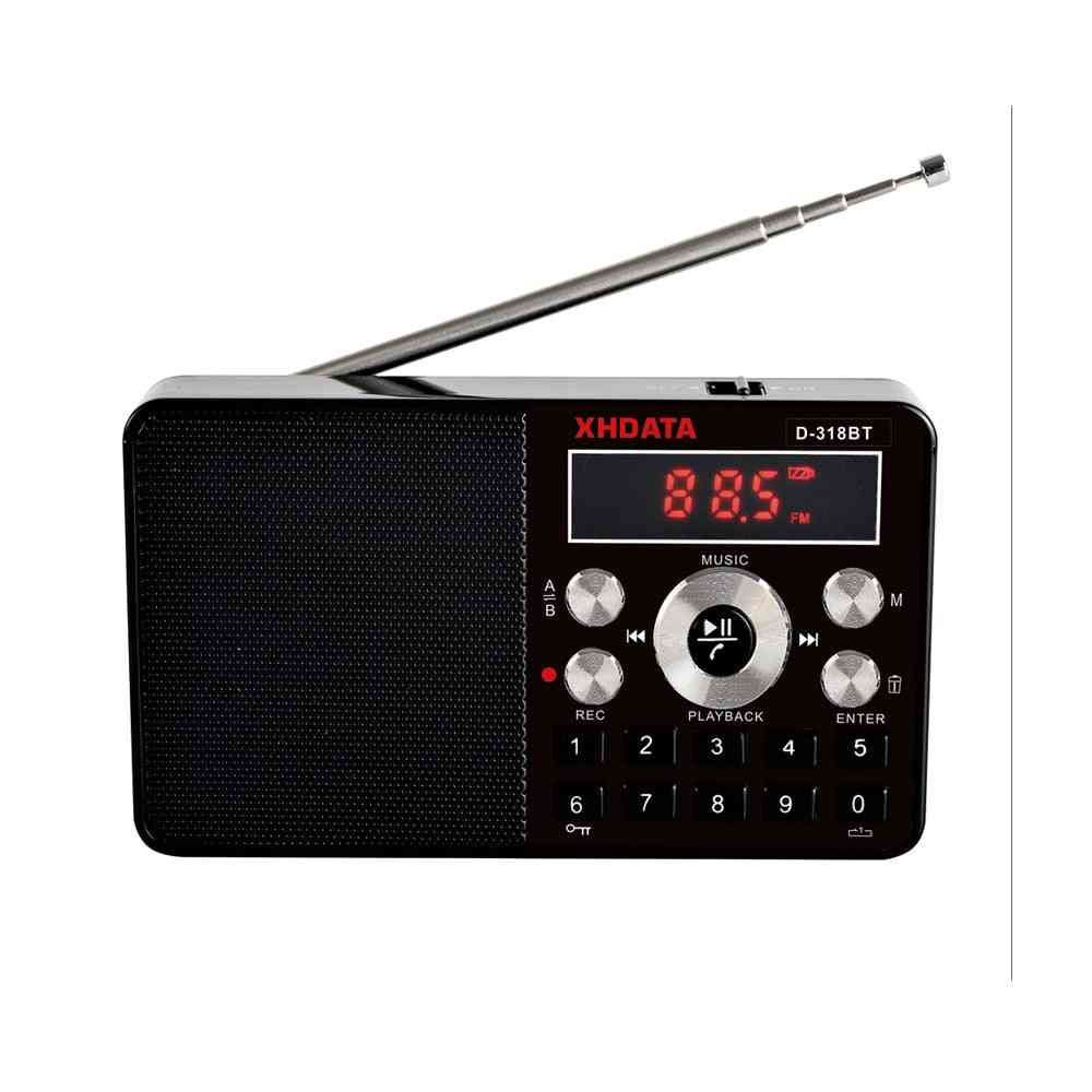 Fm Stereo, Plastic Mini Multifunction Portable Radio- Support Wireless Phone Calls