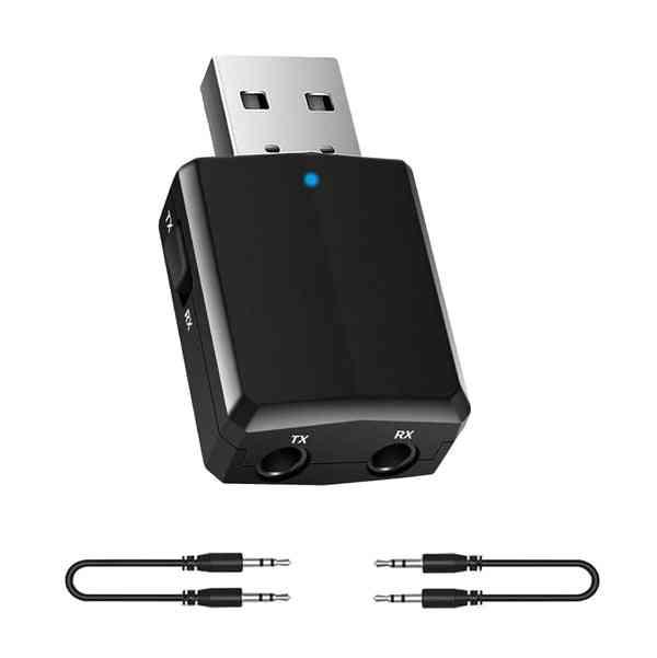 Bluetooth Receiver Transmitter- Mini Stereo 5.0 Audio Aux Rca, Usb 3.5mm Jack