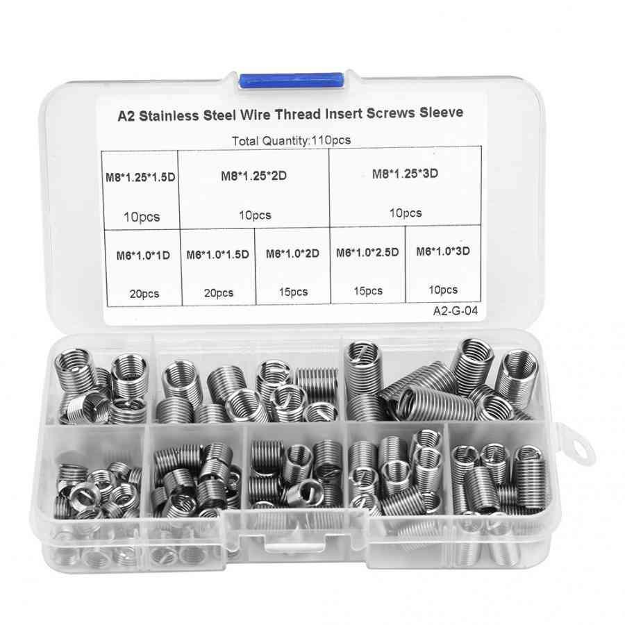 Stainless Steel, Wire Thread, Insert Screws Sleeve Set
