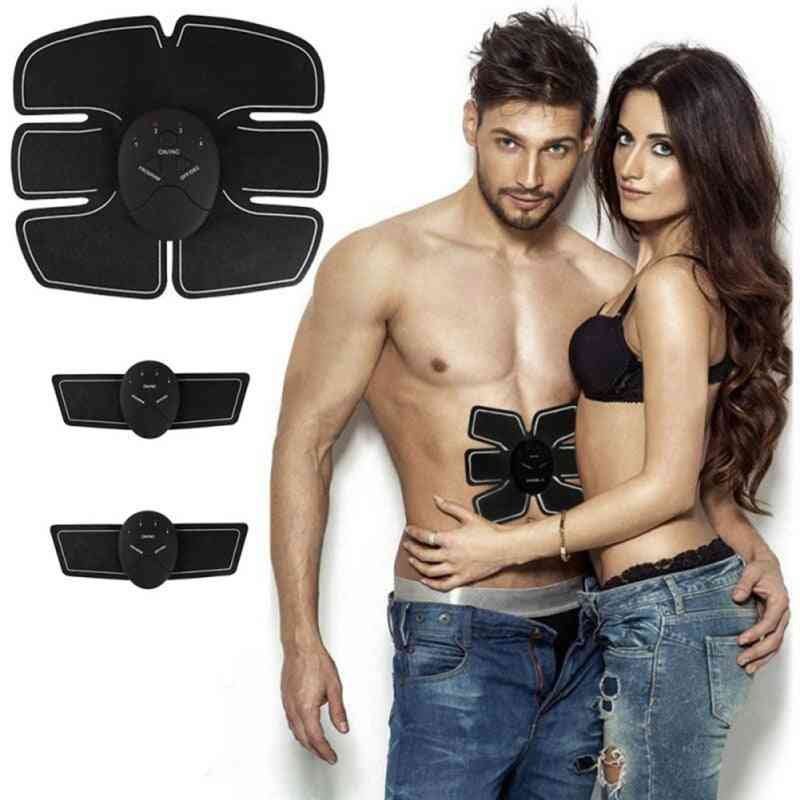 Automatically Muscle Stimulator Body Slimming Sticker, Arm Hip Abdominal Exerciser Training Device