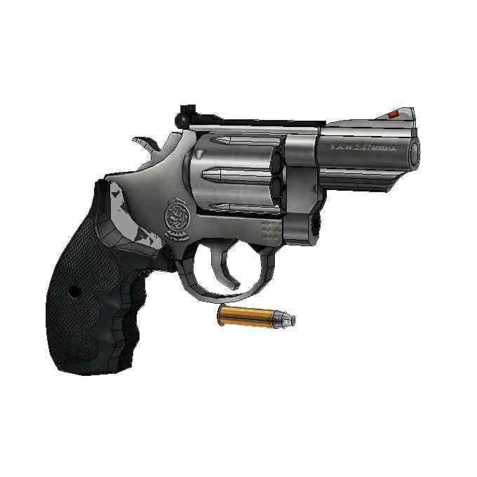 1:1 M66 Revolver Paper Model Manual