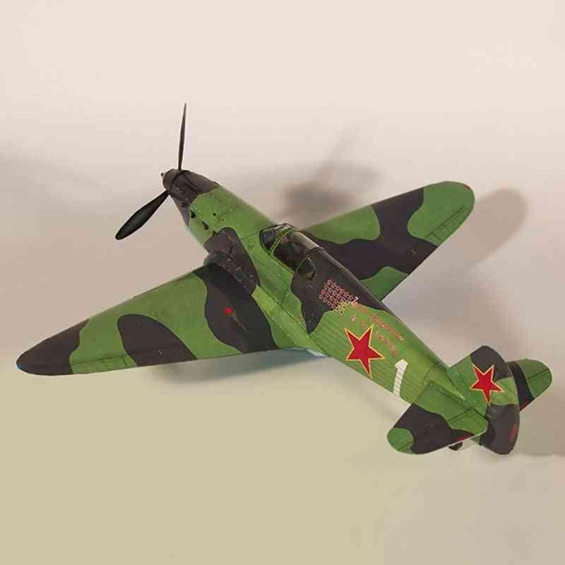 1:35 Soviet Yak-1 Fighter Diy 3d Paper Card Model, Building Set Toy