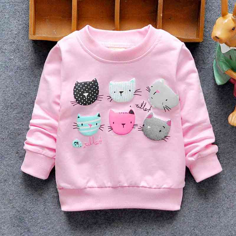Baby Sweatshirts, Winter & Spring Hoodies Cats Long Sleeves T-shirt Jacket
