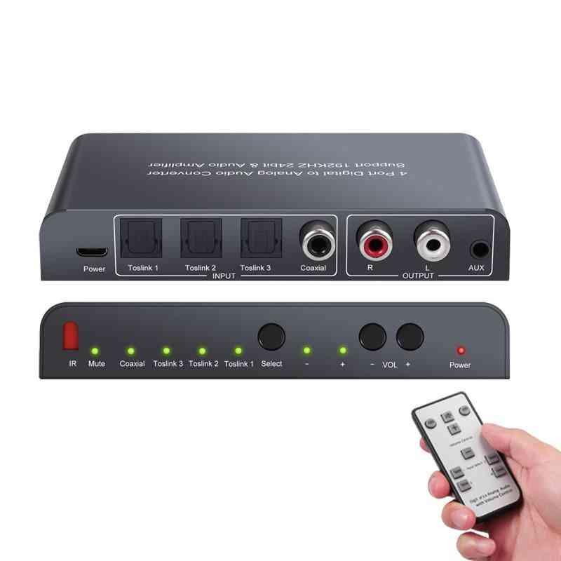 Digital To Analog Audio Converter With Ir Wireless Remote Control