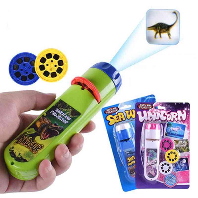 Projection Flashlight, Cute Cartoon Toy , Learning Fun