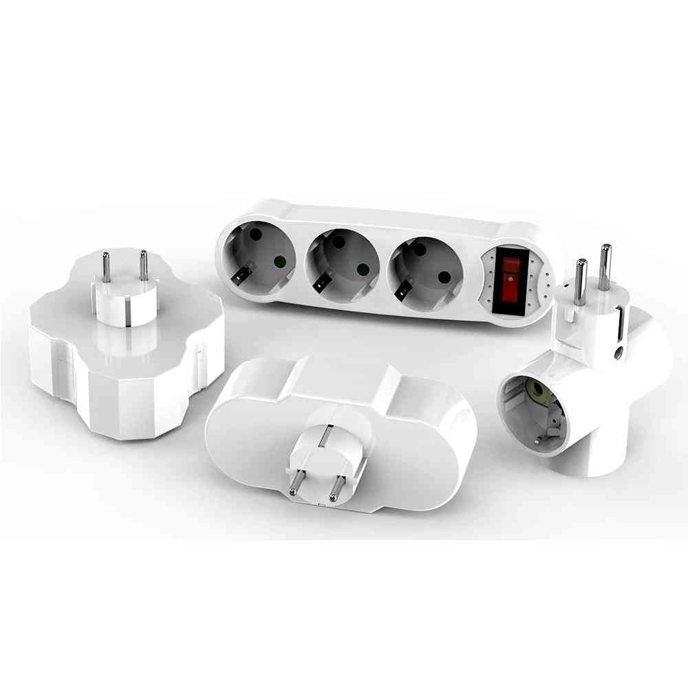 Conversion Socket, Abs Eu Standard, Standing Style, Power Adapter Converter
