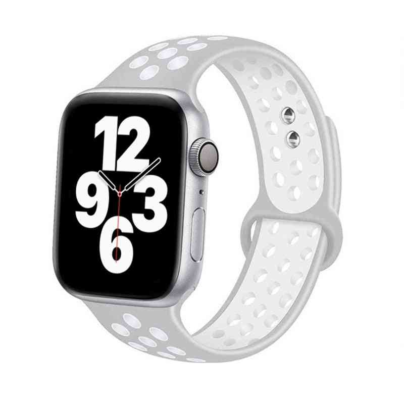 Silicone Strap For Apple Watch Band Accessories, Wrist Belt Bracelet Set-2