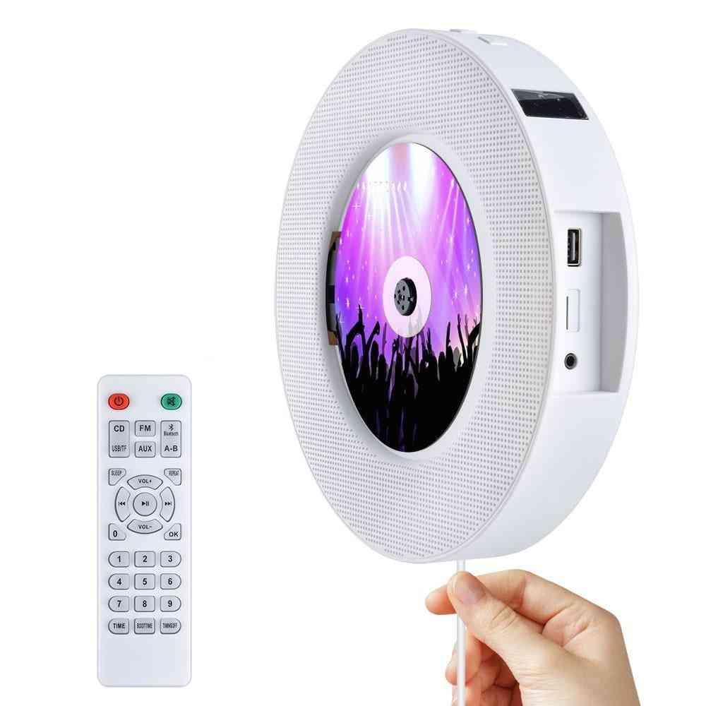 Portable Wall Mountable Bluetooth Cd Player