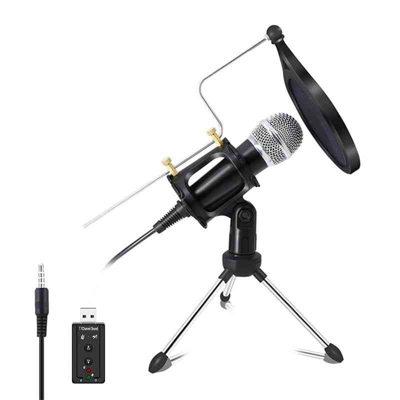 Recording Condenser Microphone For Computer Pc & Phone